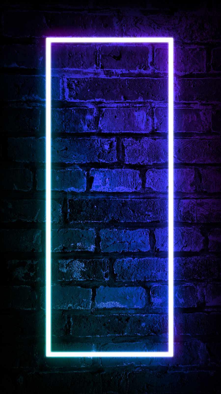 Neon Wall iPhone Wallpaper