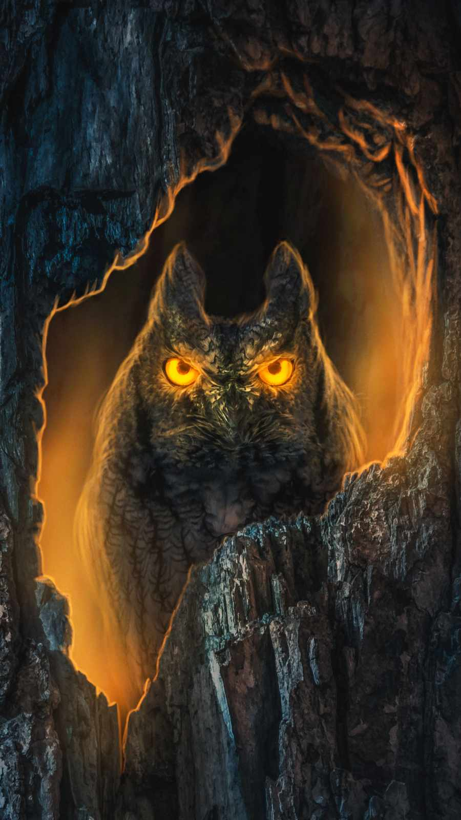 Night Owl iPhone Wallpaper
