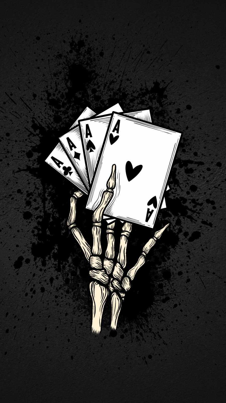 Poker Cards Skull iPhone Wallpaper