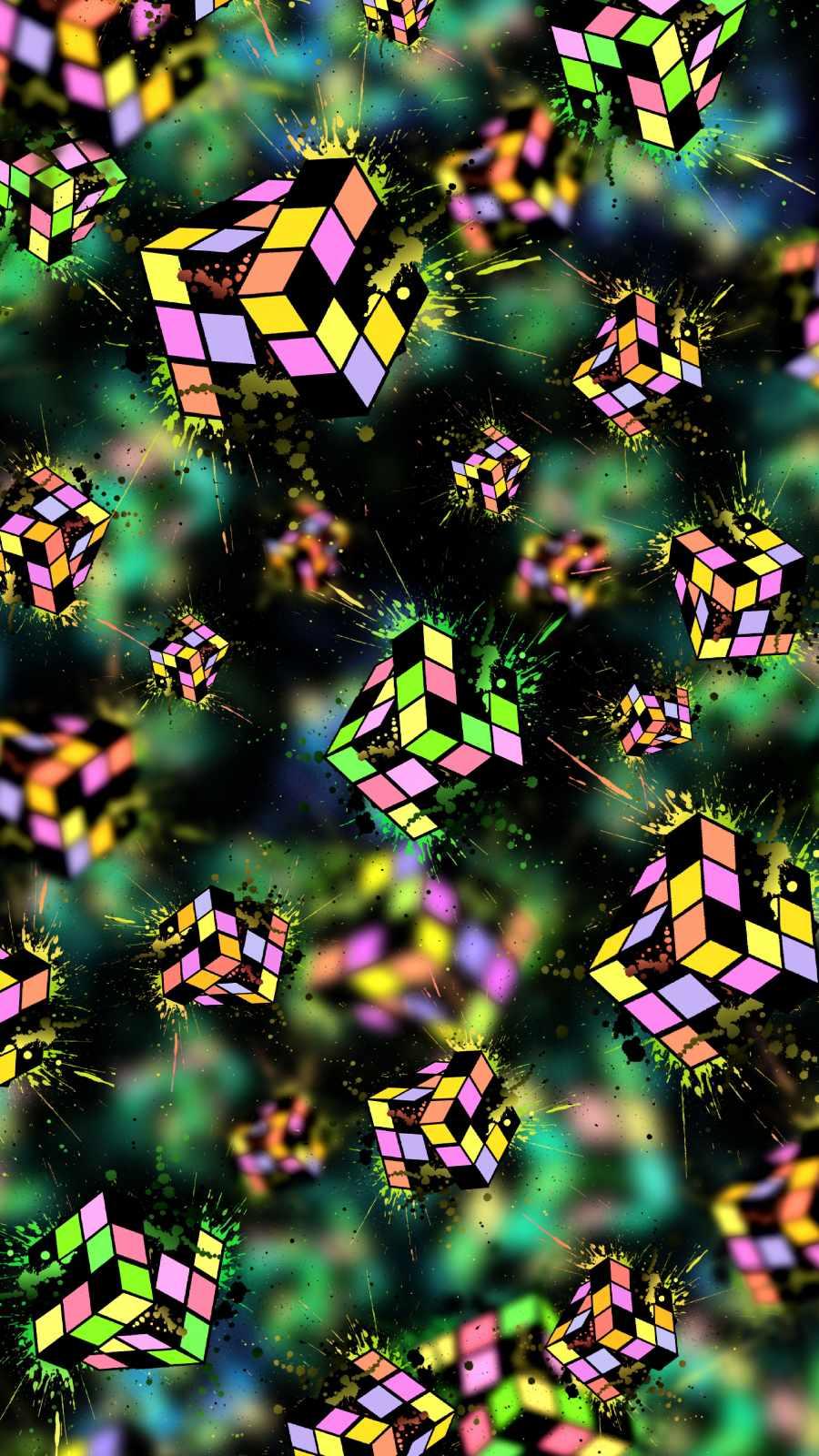 Puzzle Blocks iPhone Wallpaper