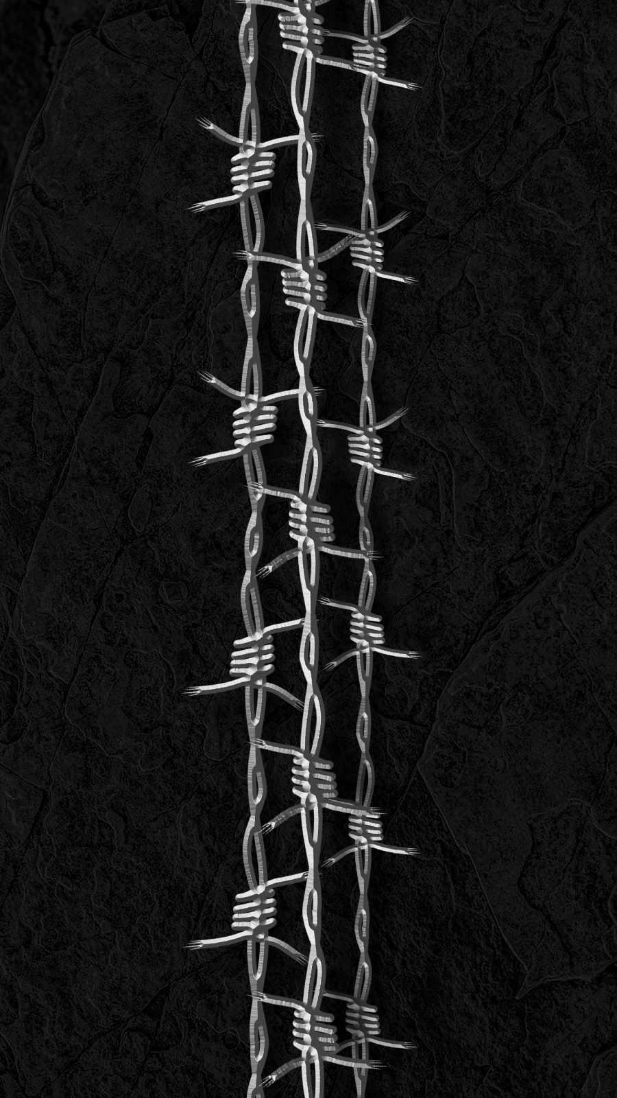 Razor Wire Art iPhone Wallpaper