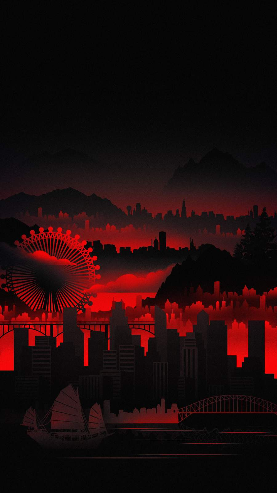Red City iPhone Wallpaper