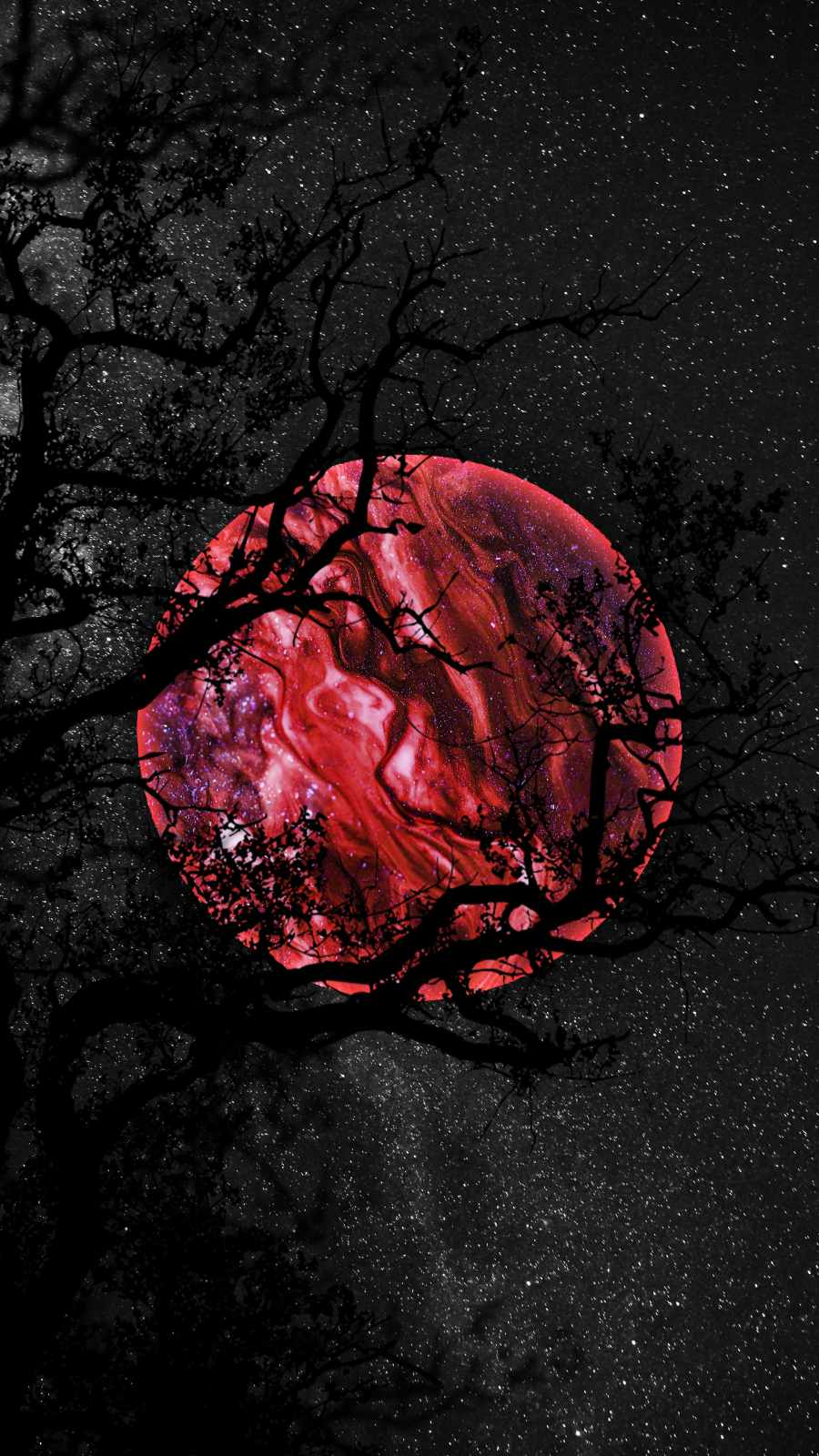 Red Moon iPhone Wallpaper