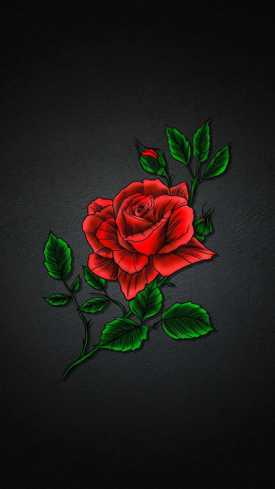 Red Rose Art iPhone Wallpaper