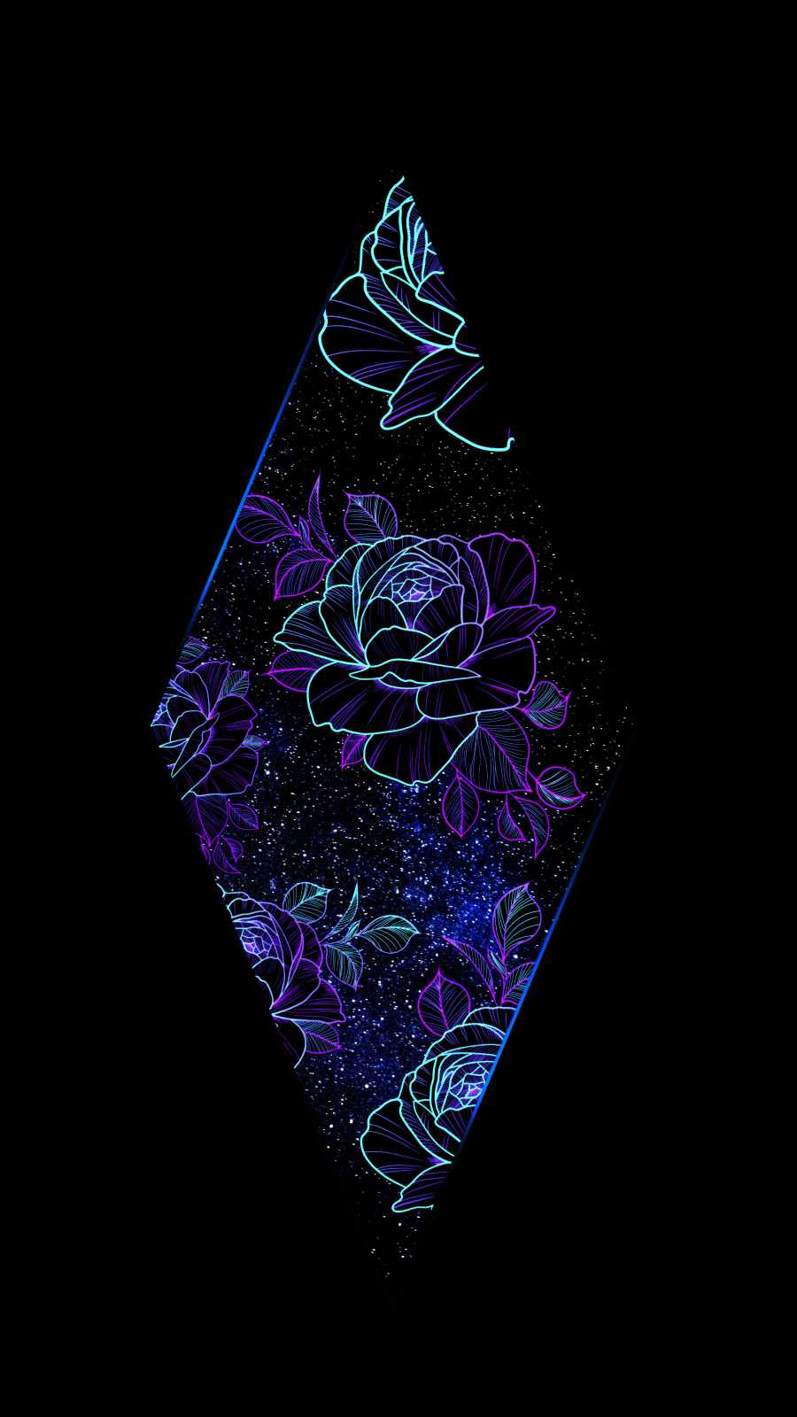 Rhombus Space Flowers Amoled