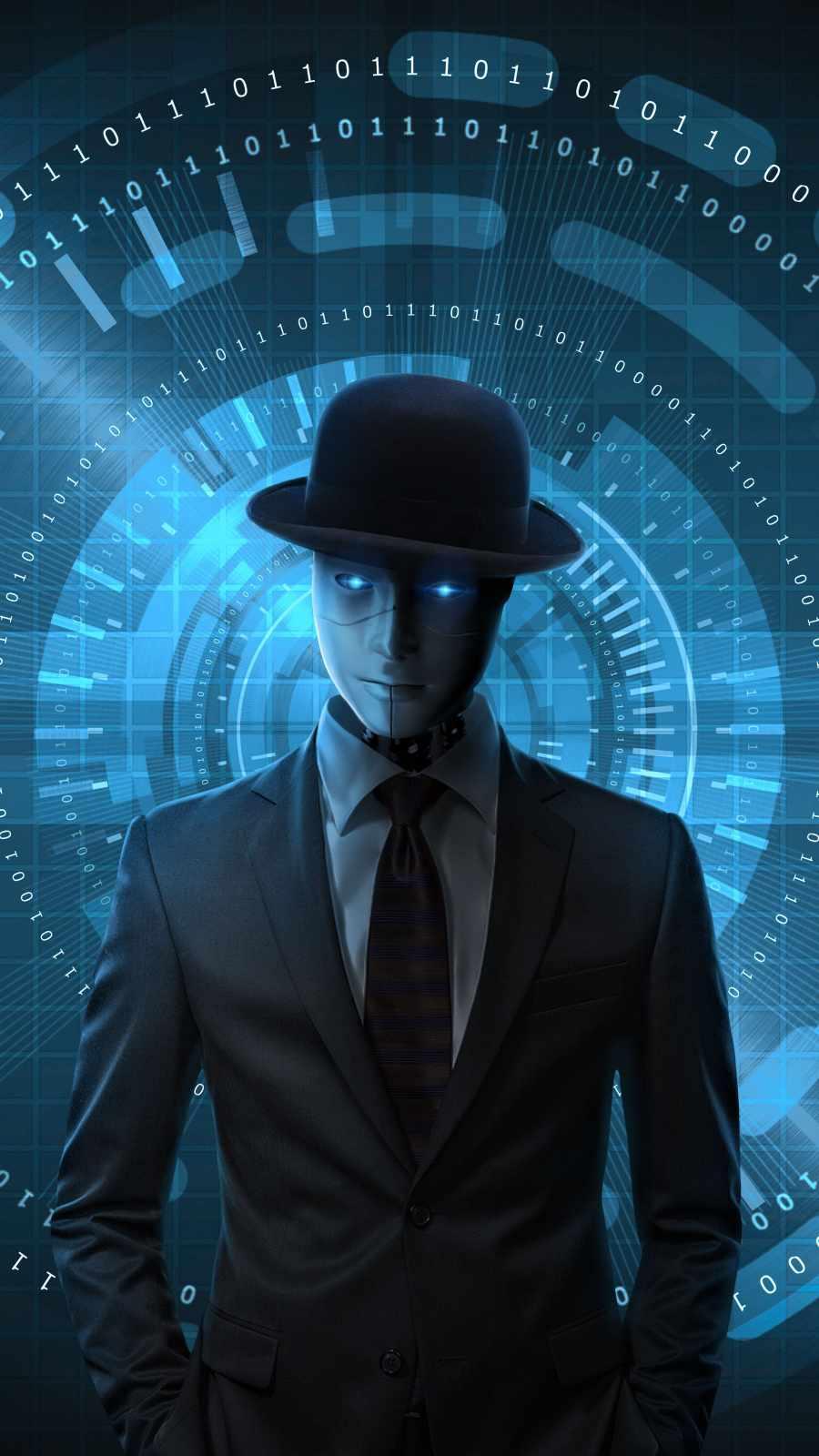 Robot Guy iPhone Wallpaper
