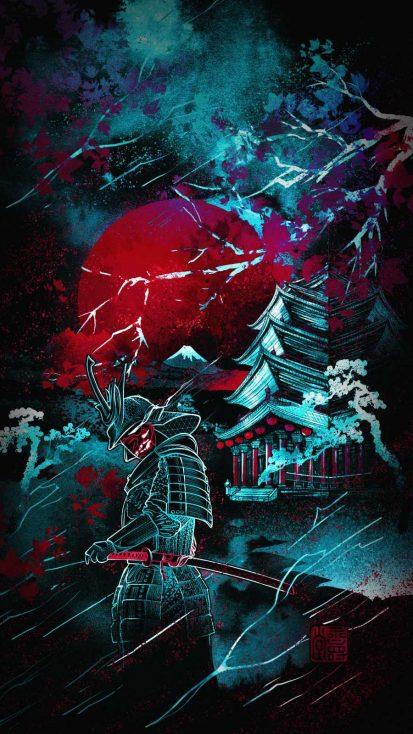 Samurai Castle iPhone Wallpaper