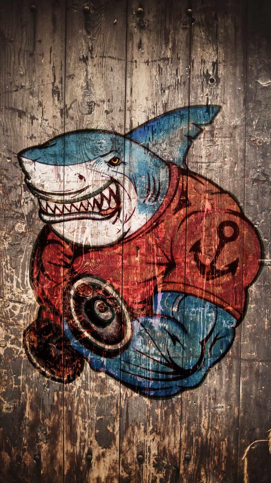 Shark Gym iPhone Wallpaper