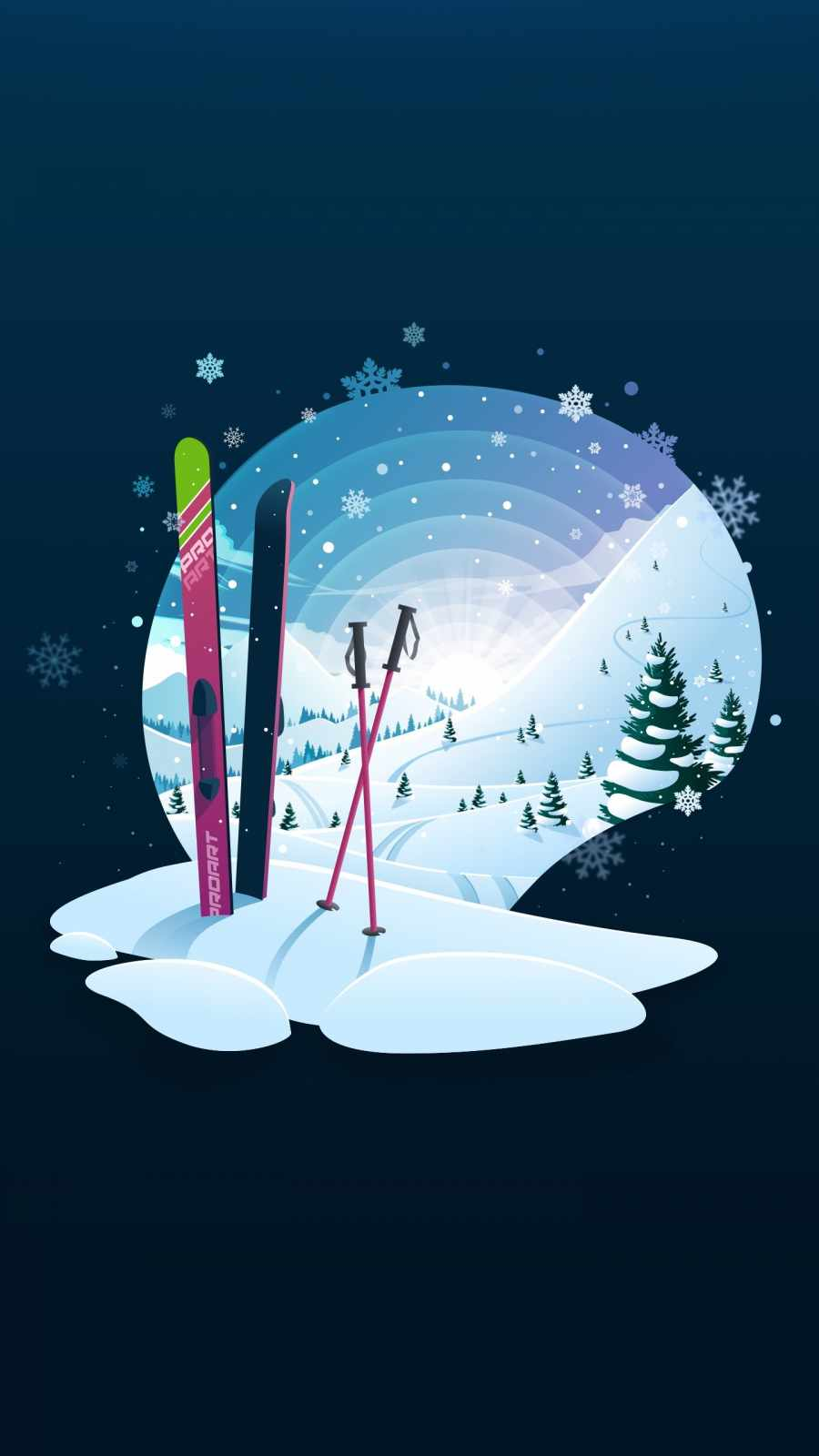 Ski Winter iPhone Wallpaper