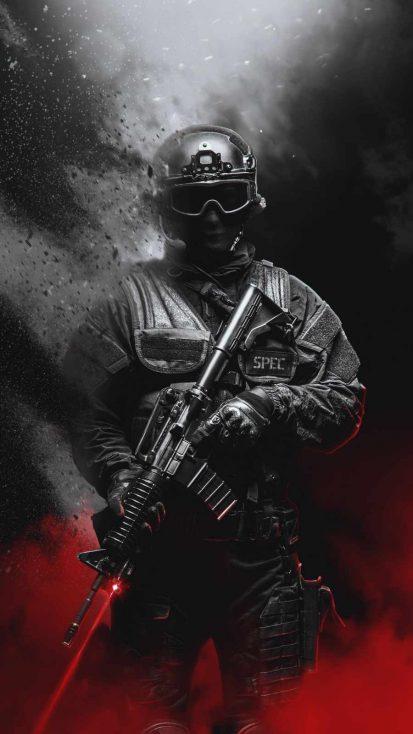 Spec Ops Soldier iPhone Wallpaper