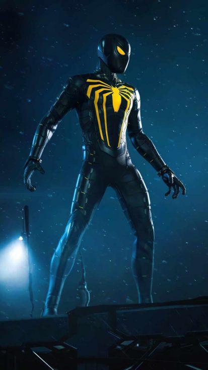 Spider man Black Suit iPhone Wallpaper