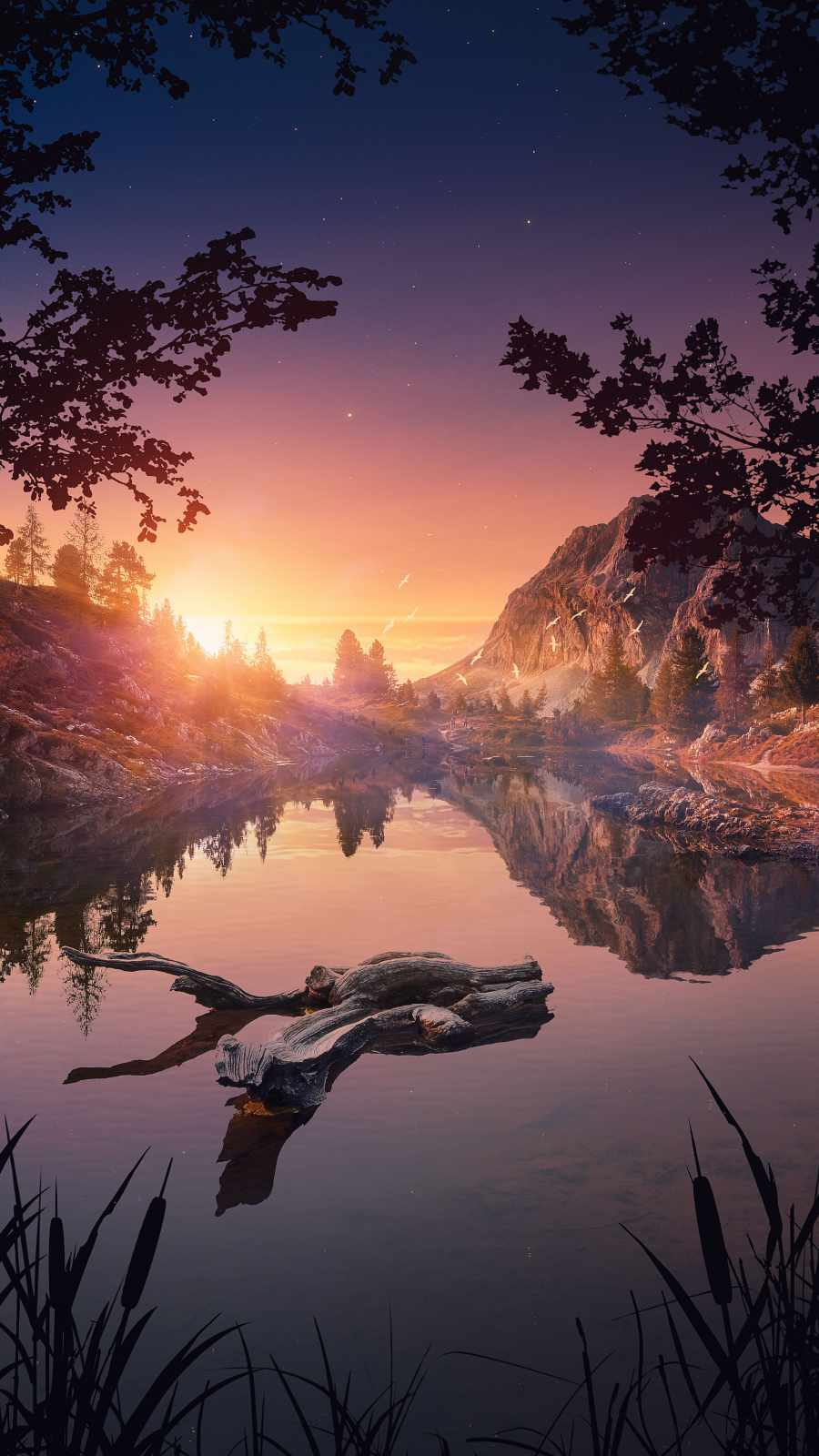 Sunrise Reflection on Water