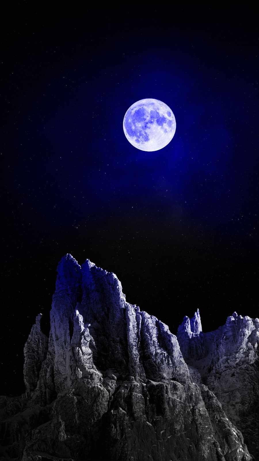 Super Moon iPhone Wallpaper