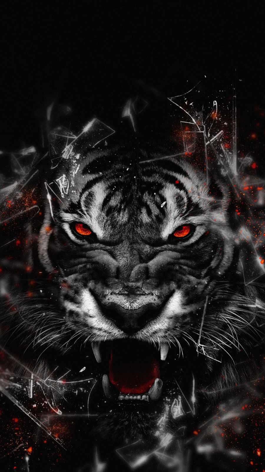 Tiger Attack iPhone Wallpaper