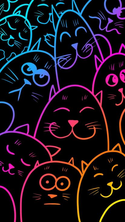 Toon Faces iPhone Wallpaper