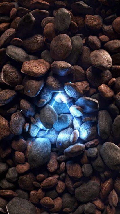 Triangle Neon Stones