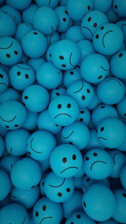 Unhappy Faces iPhone Wallpaper