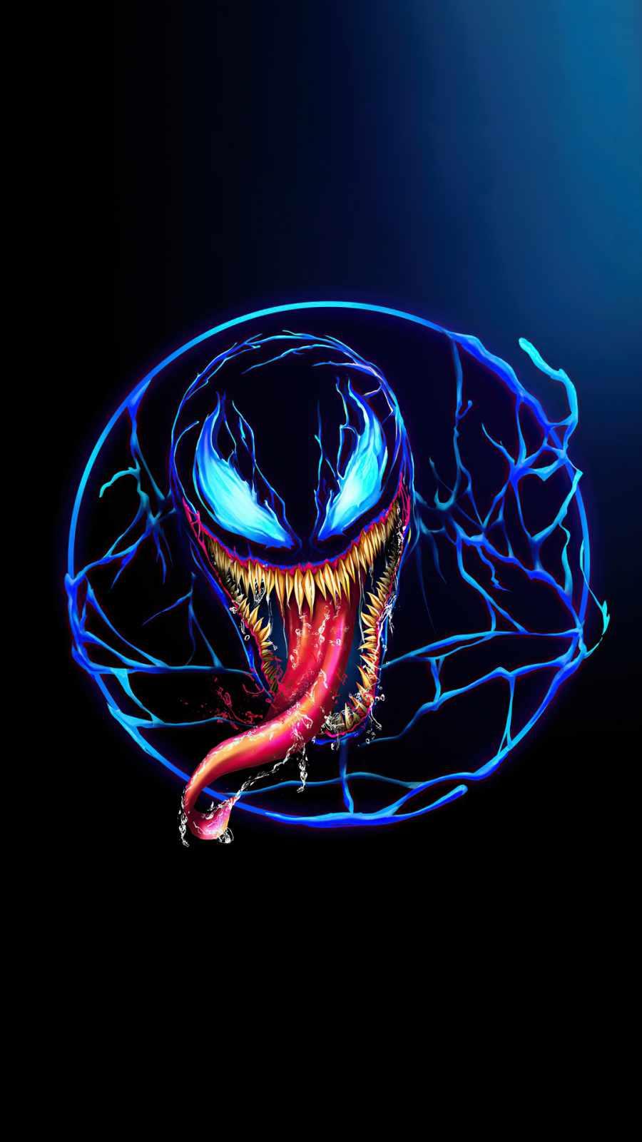 Venom minimal design iPhone Wallpaper