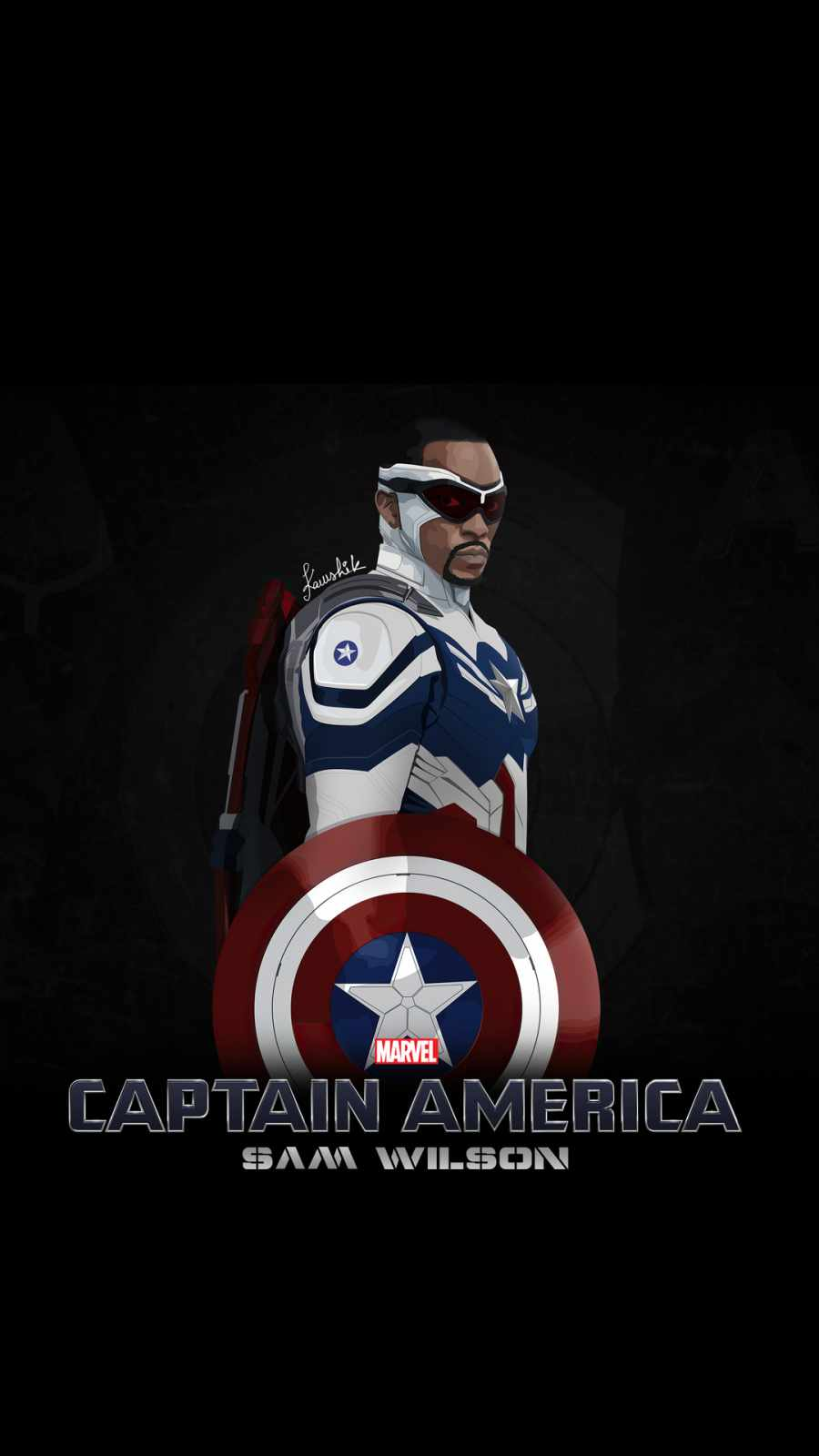 captain america sam wilson minimal