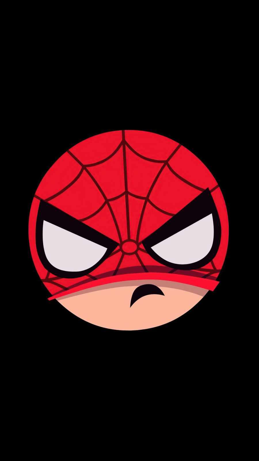 spiderman angry minimal iPhone Wallpaper