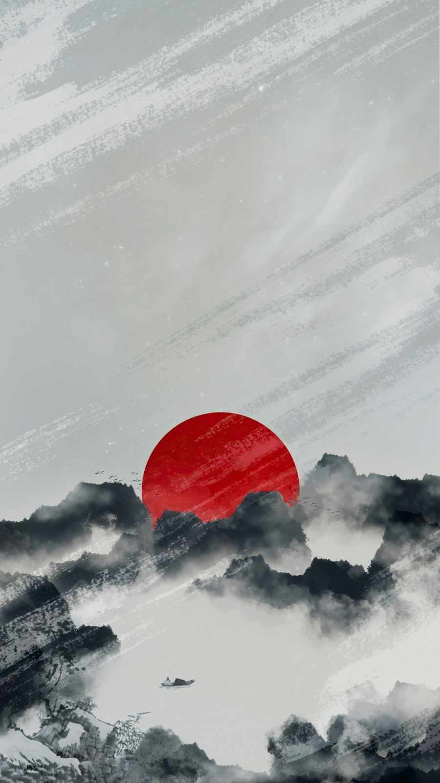 sun in dark clouds