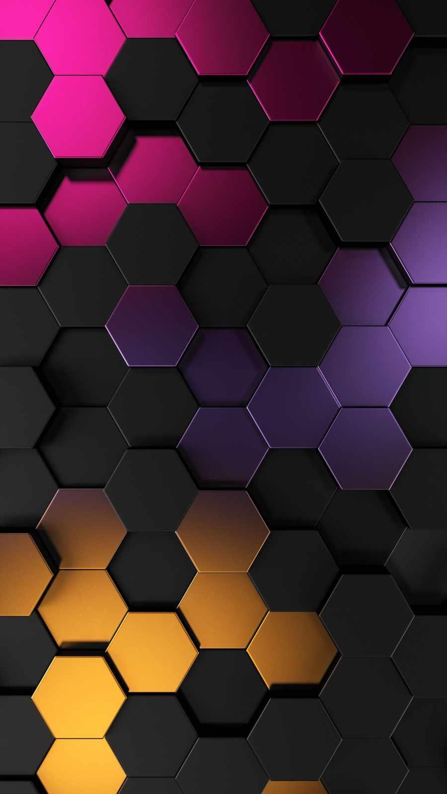 3D Hexagon Metallic Texture