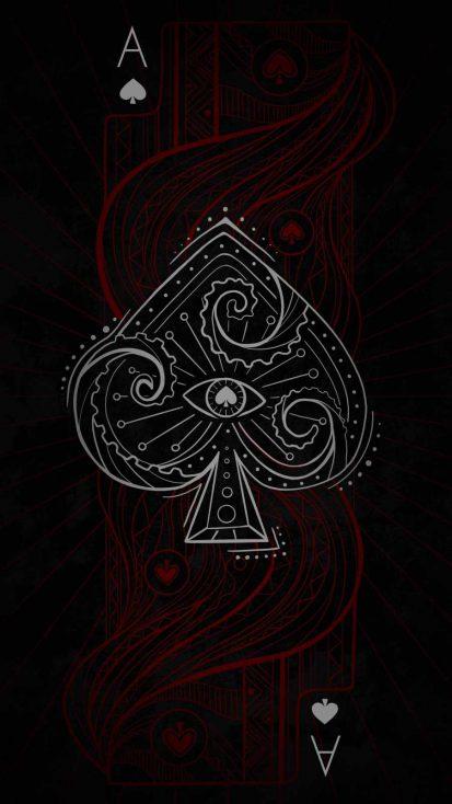 Ace Card Art iPhone Wallpaper