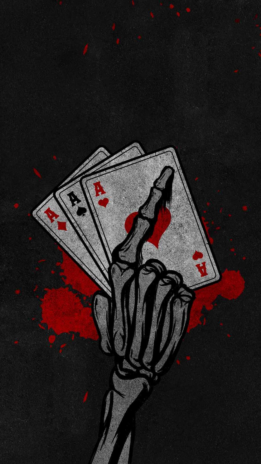 Ace Cards iPhone Wallpaper