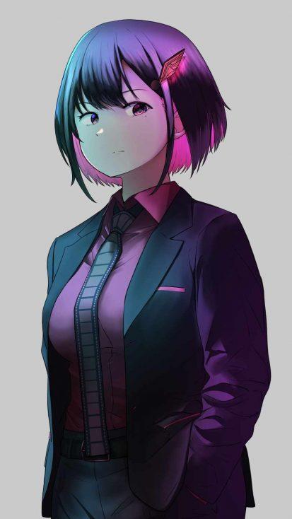 Anime Girl Pose iPhone Wallpaper