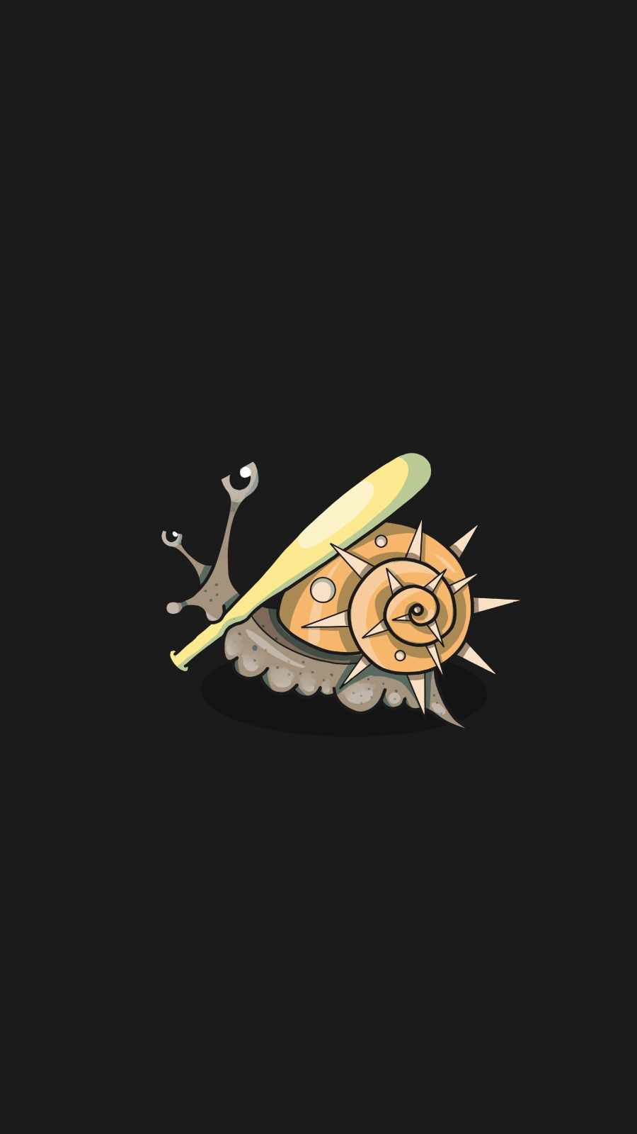 Bad Snail iPhone Wallpaper