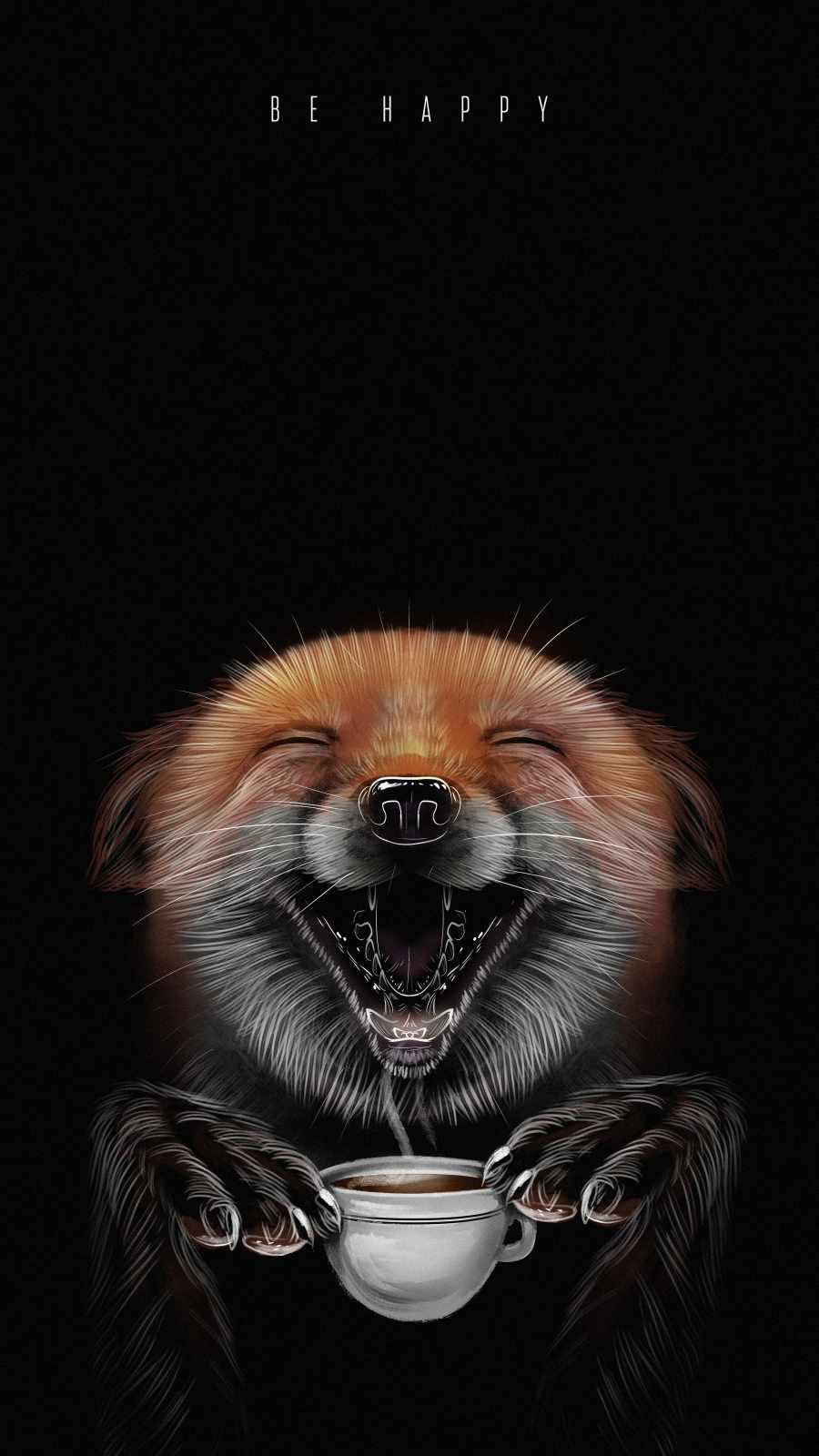 Be Happy iPhone Wallpaper