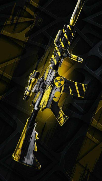 Biohazard Rifle iPhone Wallpaper