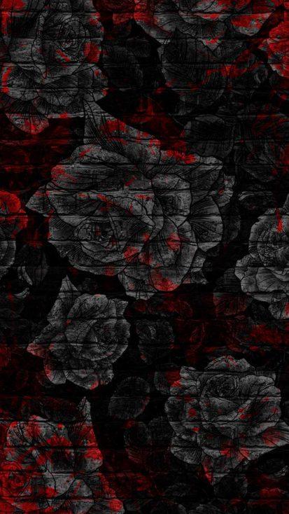 Black Roses iPhone Wallpaper
