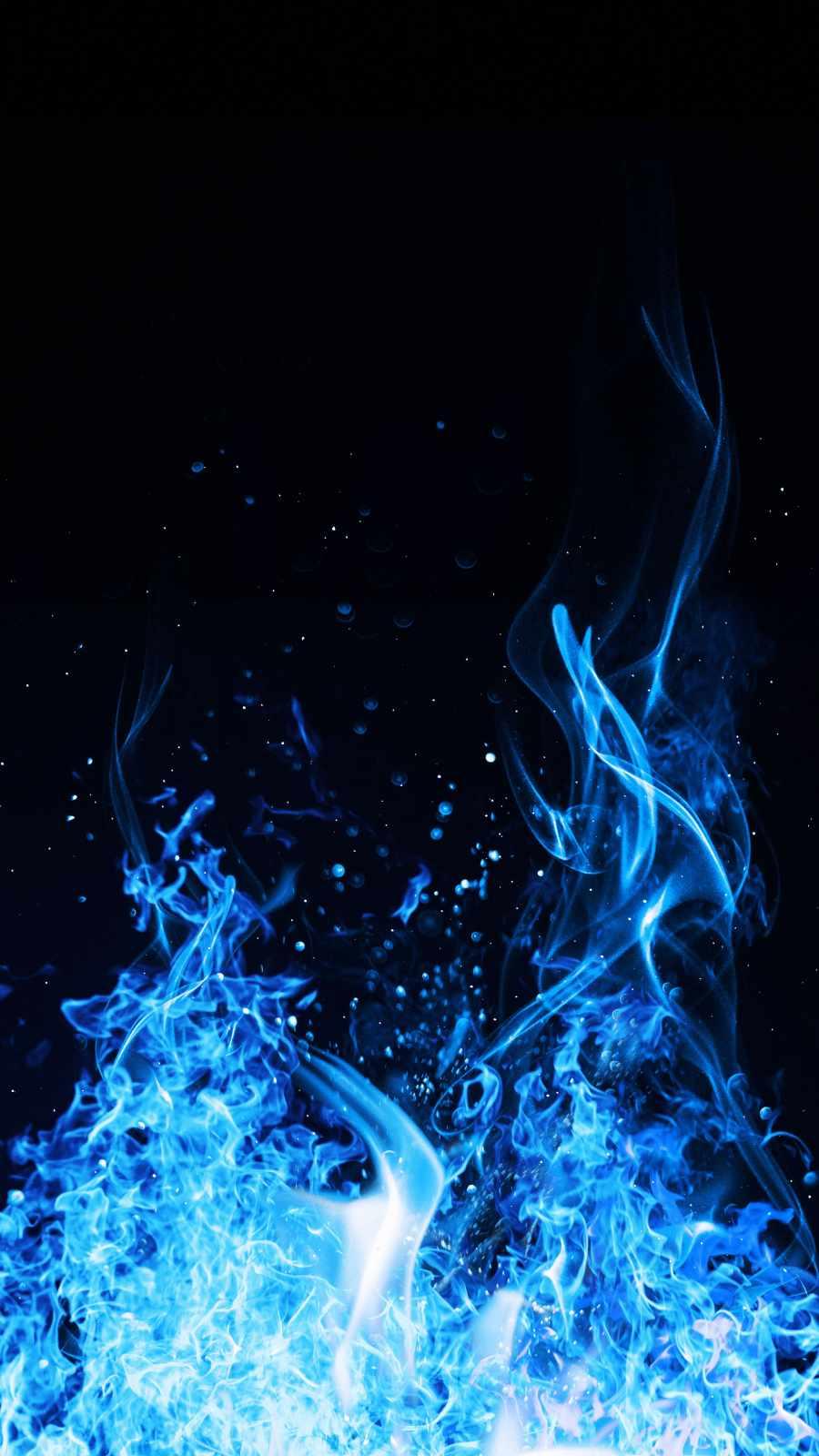 Blue Flames iPhone Wallpaper