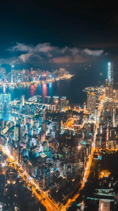 City Night iPhone Wallpaper