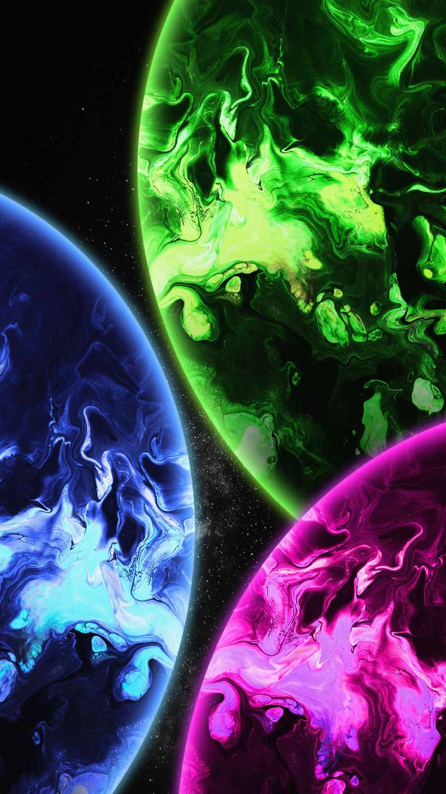 Colorful Planets iPhone Wallpaper