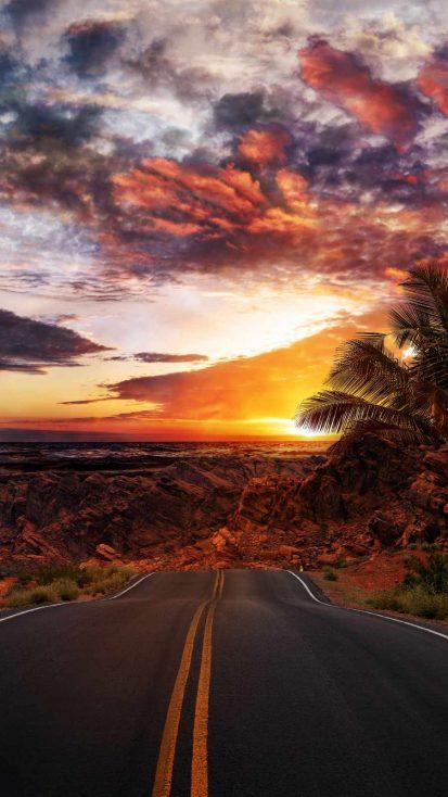 Desert Road iPhone Wallpaper