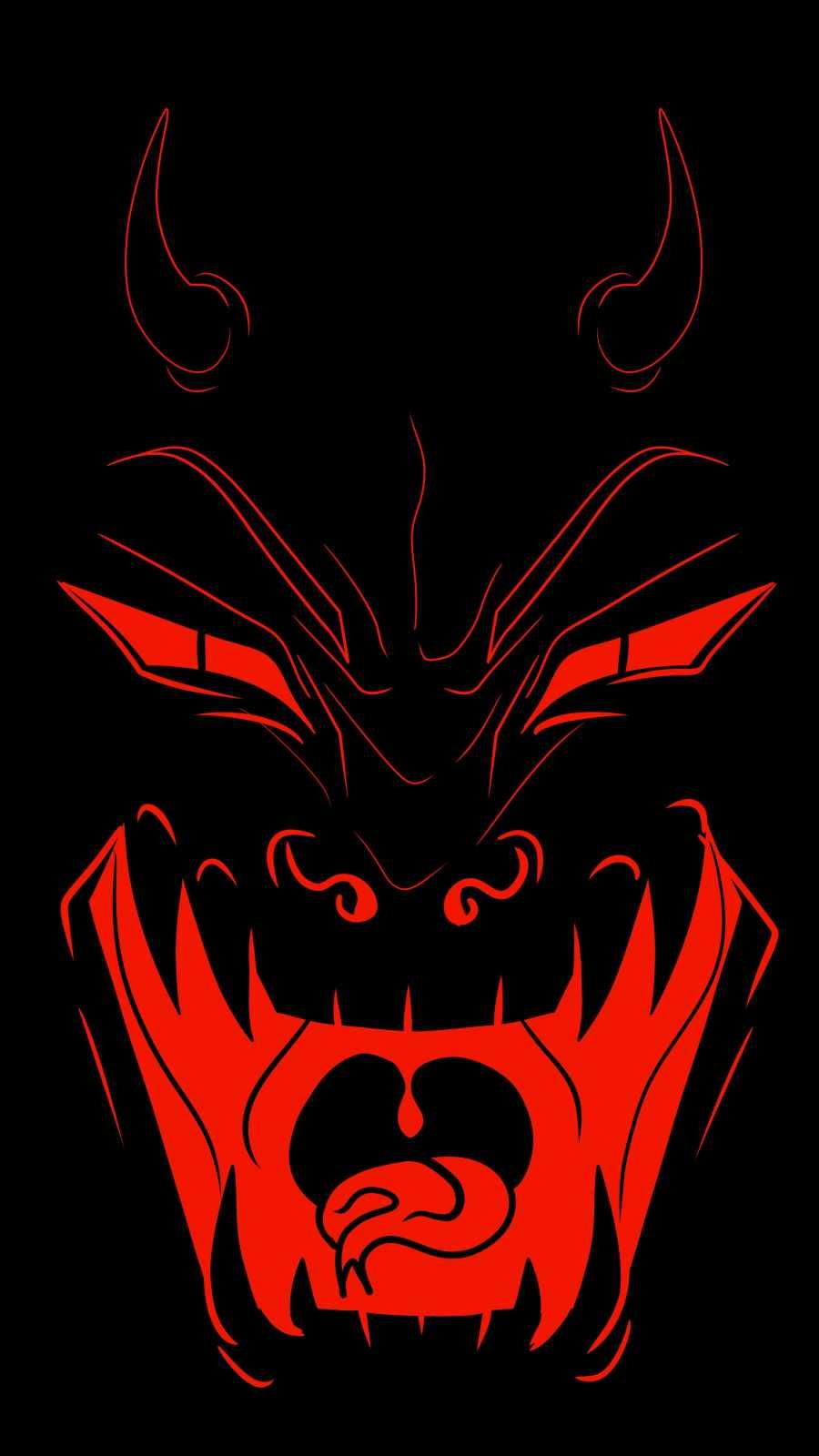 Devil Laughing iPhone Wallpaper