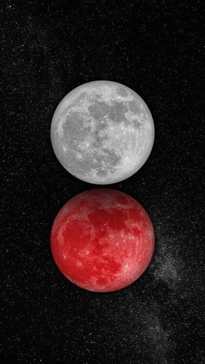 Double Moon iPhone Wallpaper
