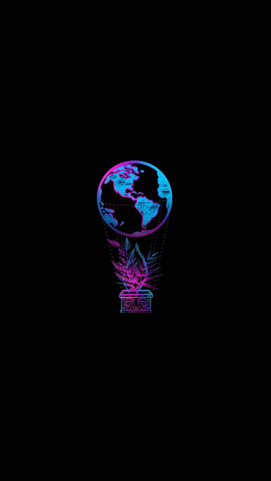Earth Balloon iPhone Wallpaper