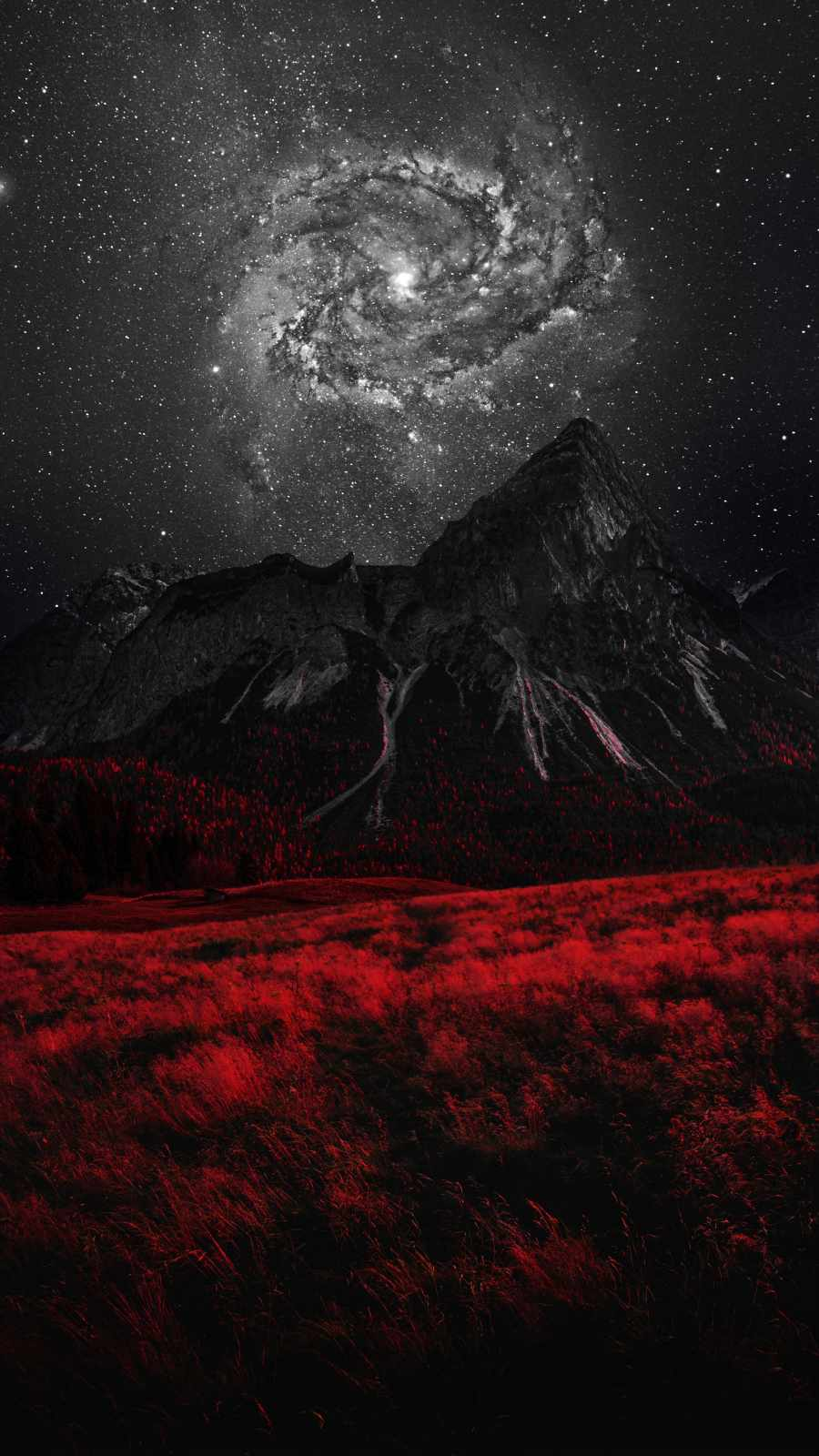 Galaxy View over Mountain