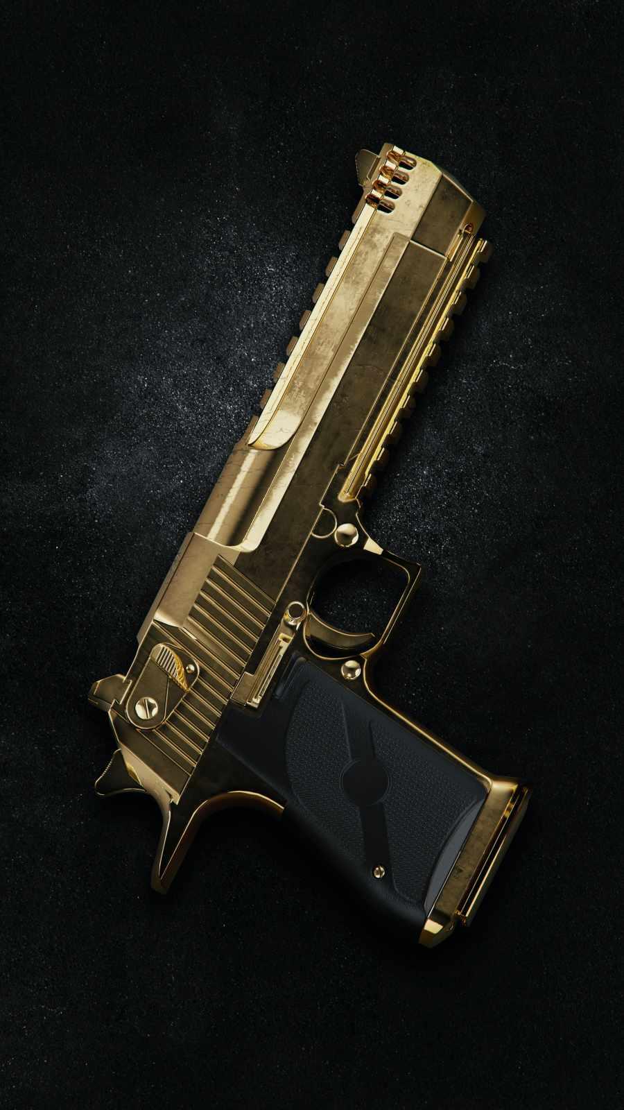 Gold Gun iPhone Wallpaper