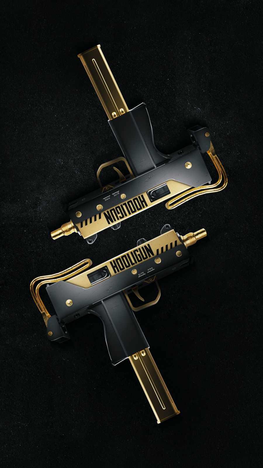 Golden SMG iPhone Wallpaper