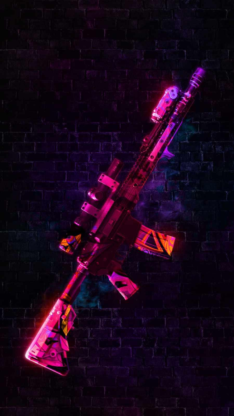 Gun Skin iPhone Wallpaper