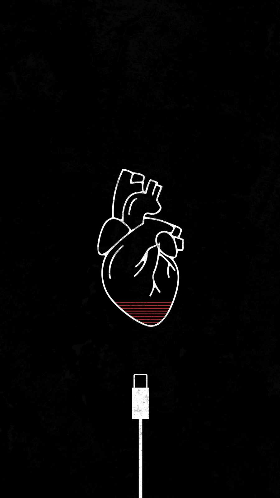 Heart Low iPhone Wallpaper
