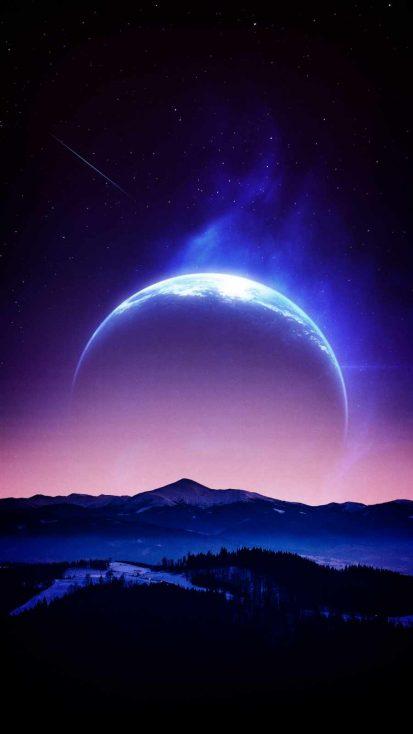 Horizon Planet iPhone Wallpaper