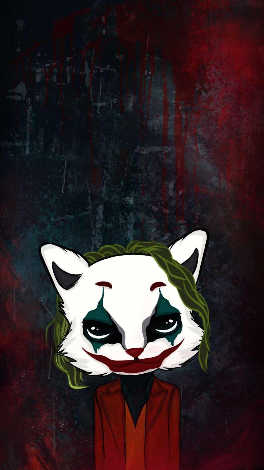 Joker Cat iPhone Wallpaper