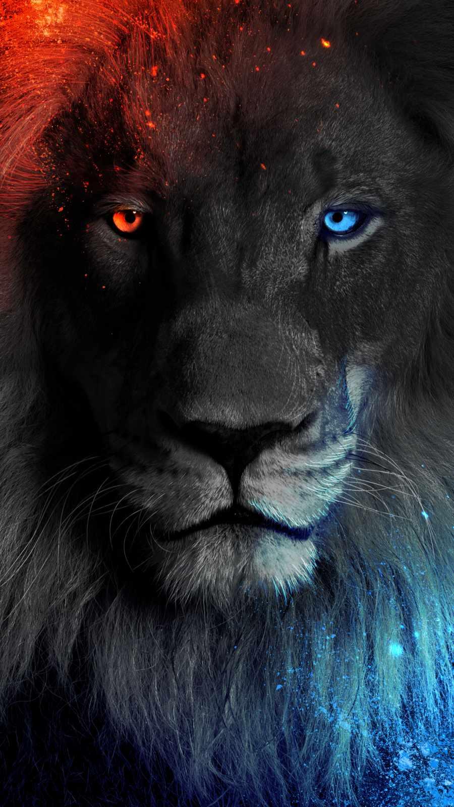 Lion King Face iPhone Wallpaper