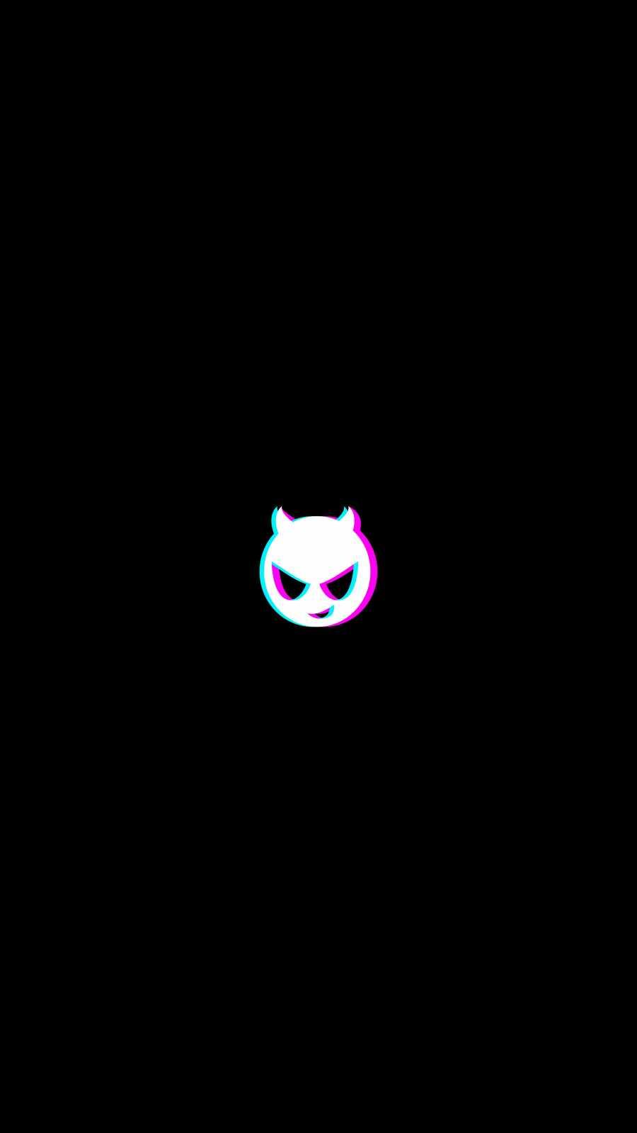 Minimal Devil iPhone Wallpaper