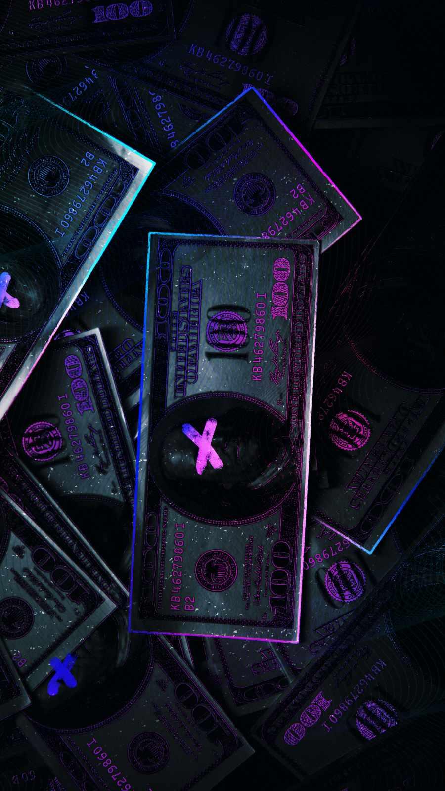 Money Always iPhone Wallpaper